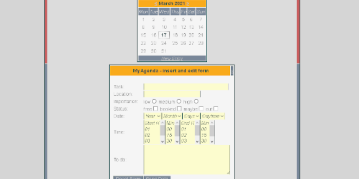 PHP calendar with AJAX - Cover Image