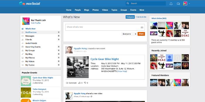 mooSocial - The Responsive Web Design, PHP Social Network Script - Cover Image
