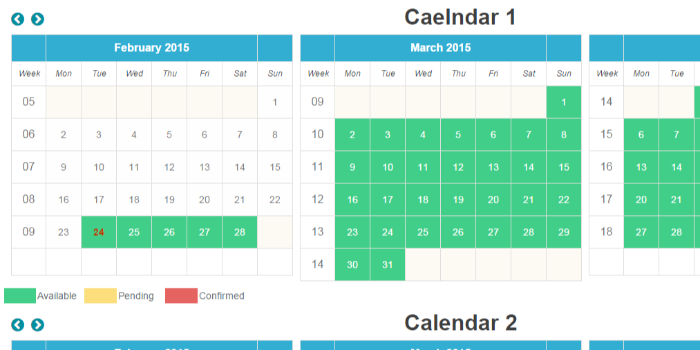 Availability Booking Calendar PHP - Cover Image