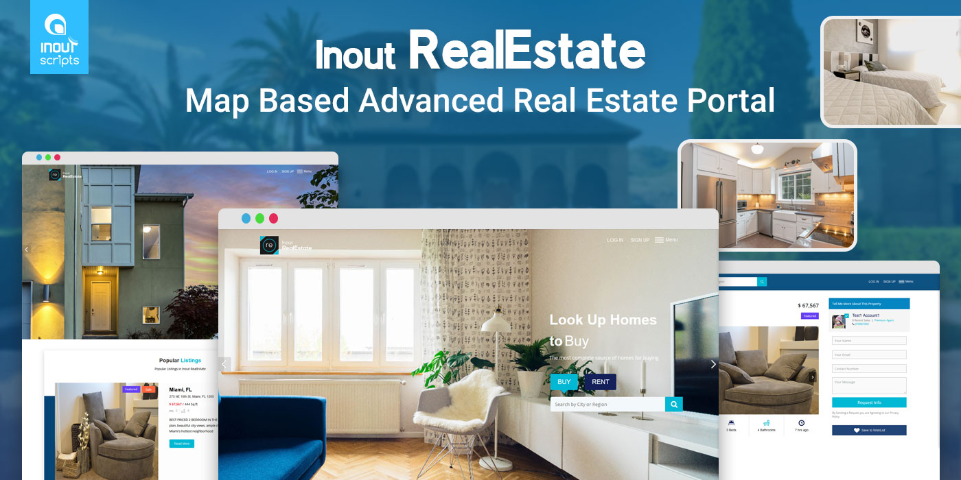 Inout RealEstate - Map Based Advanced Real Estate Portal - Cover Image