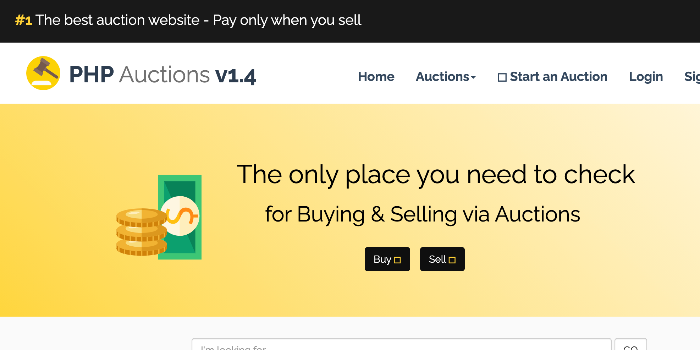 Crivion PHP Auction Script - Cover Image