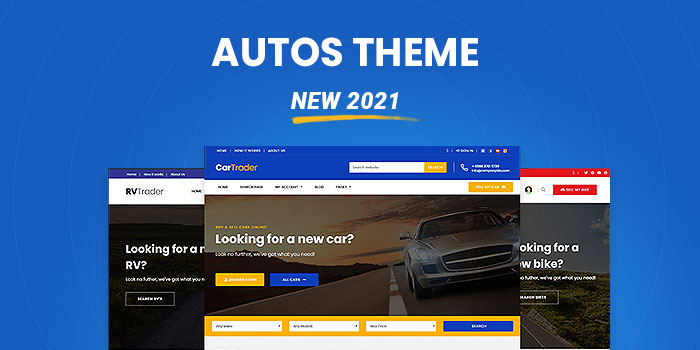 Car Dealer & Autos Theme  (New 2021)  - Download Now! - Cover Image