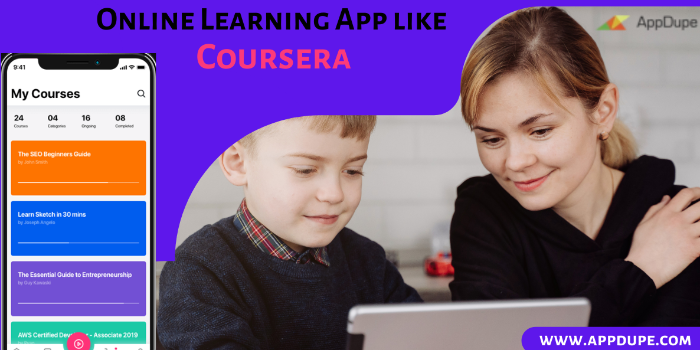 Online learning app like Coursera - Cover Image