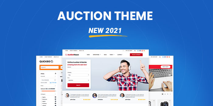 Auction Theme: Start your own auction website today.  (New 2021)  - Download Now! - Cover Image