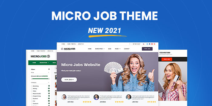 Micro Jobs Theme - Setup a website like Fiverr today *New 2021* - Cover Image