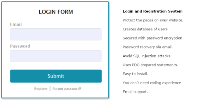Login and Registration System - Cover Image