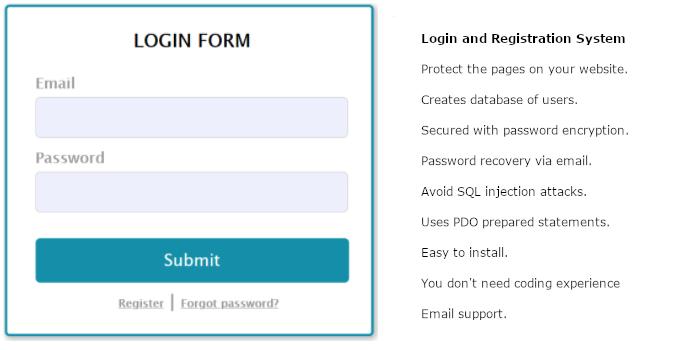 Login and Registration System - Cover Image