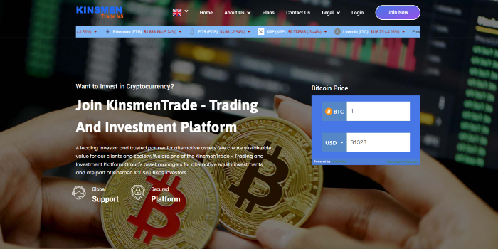 KinsmenTrade - Trading and Investment Platform - Cover Image