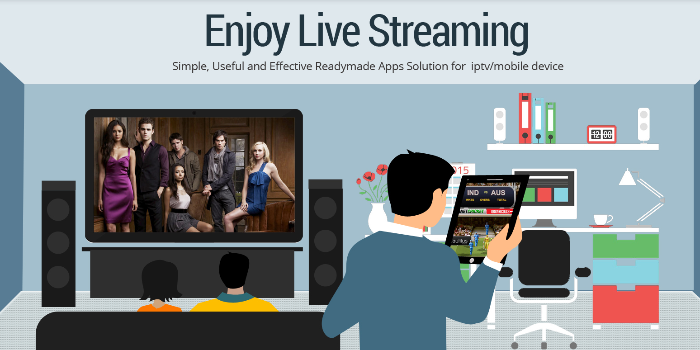 Netflix clone script: IPTV app for android and iPhone - Cover Image