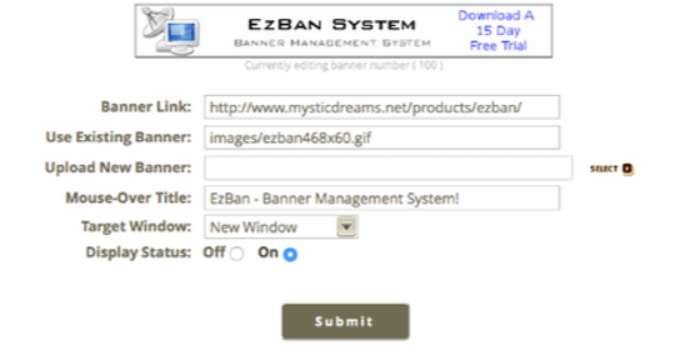 EzBan - Banner Management System - Cover Image