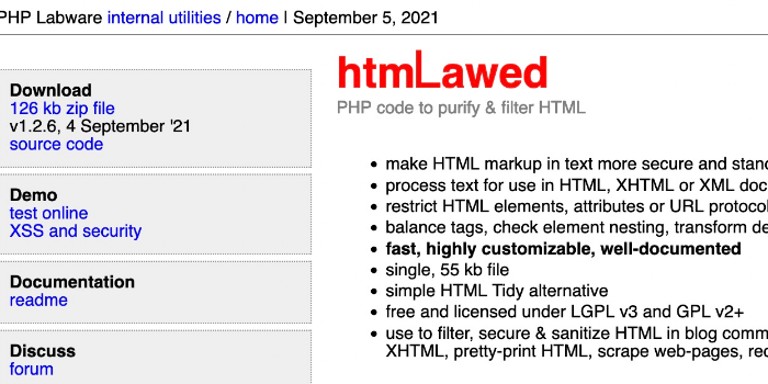 htmLawed - Cover Image