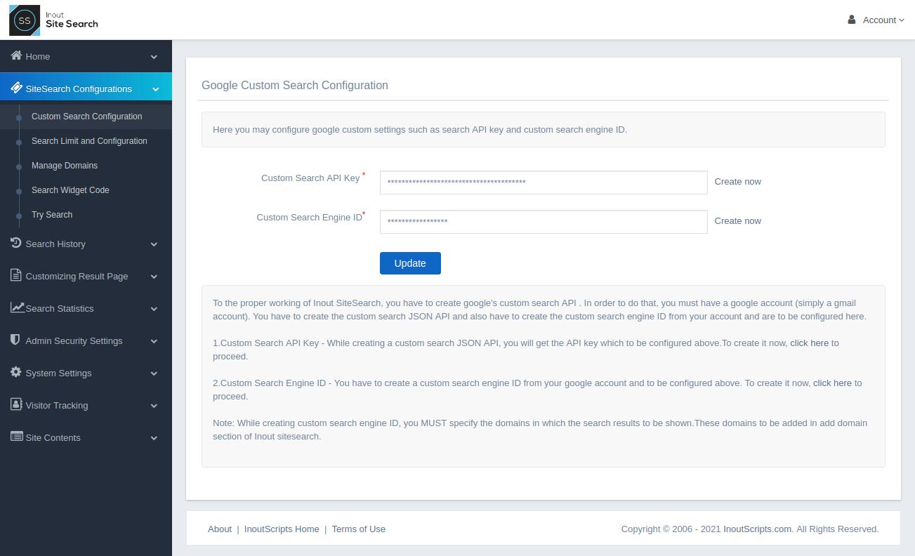 Inout SiteSearch - Screenshot 1