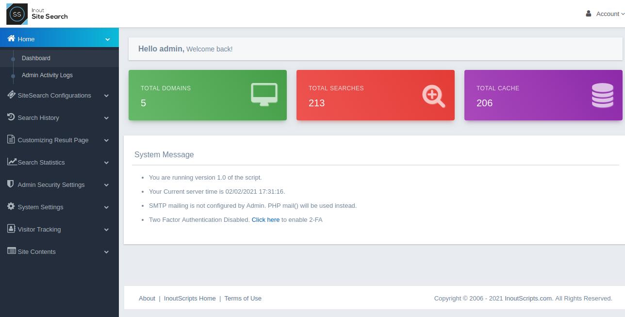 Inout SiteSearch - Screenshot 6