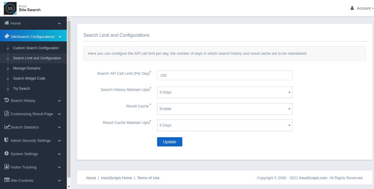 Inout SiteSearch - Screenshot 2
