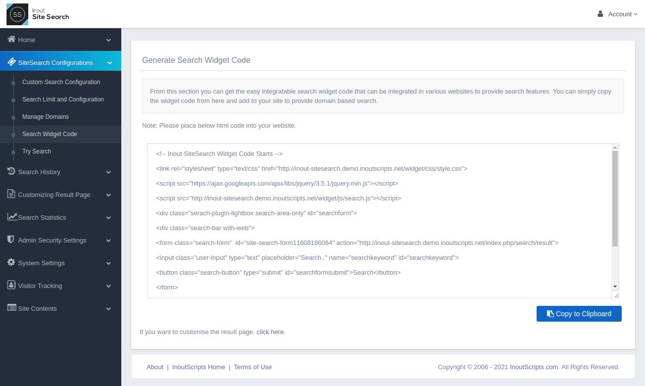 Inout SiteSearch - Screenshot 4