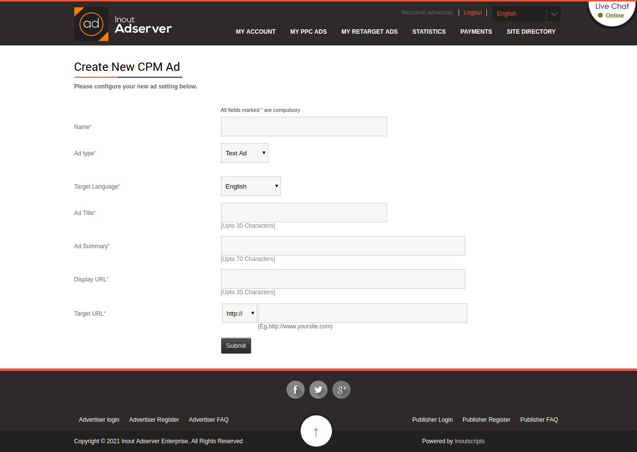 Cost Per Impression (CPM) Ads (for Inout Adserver) - Screenshot 3