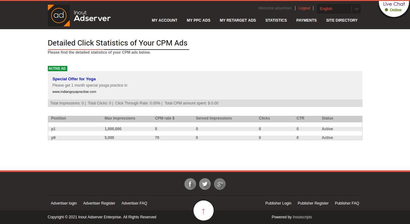 Cost Per Impression (CPM) Ads (for Inout Adserver) - Screenshot 5