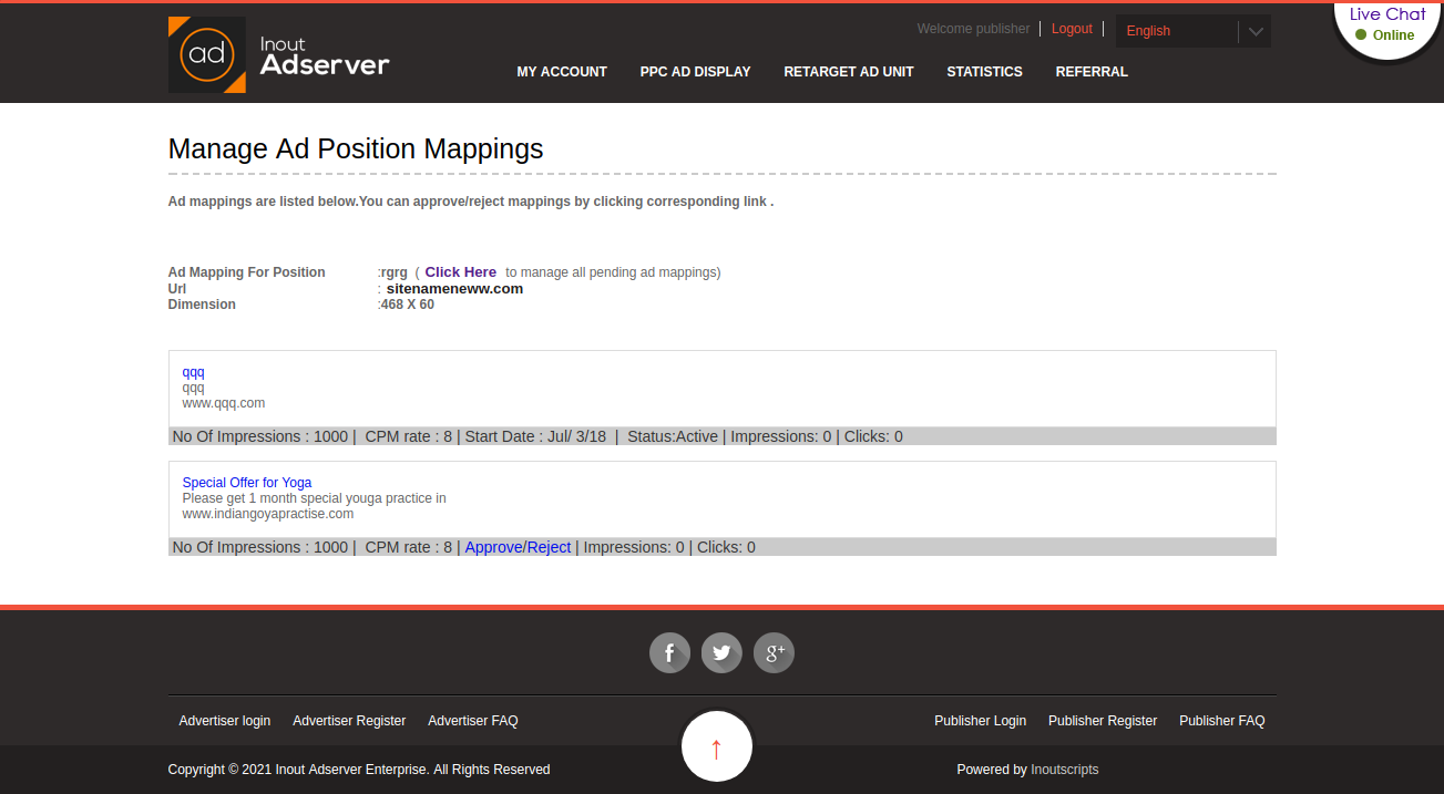 Cost Per Impression (CPM) Ads (for Inout Adserver) - Screenshot 6