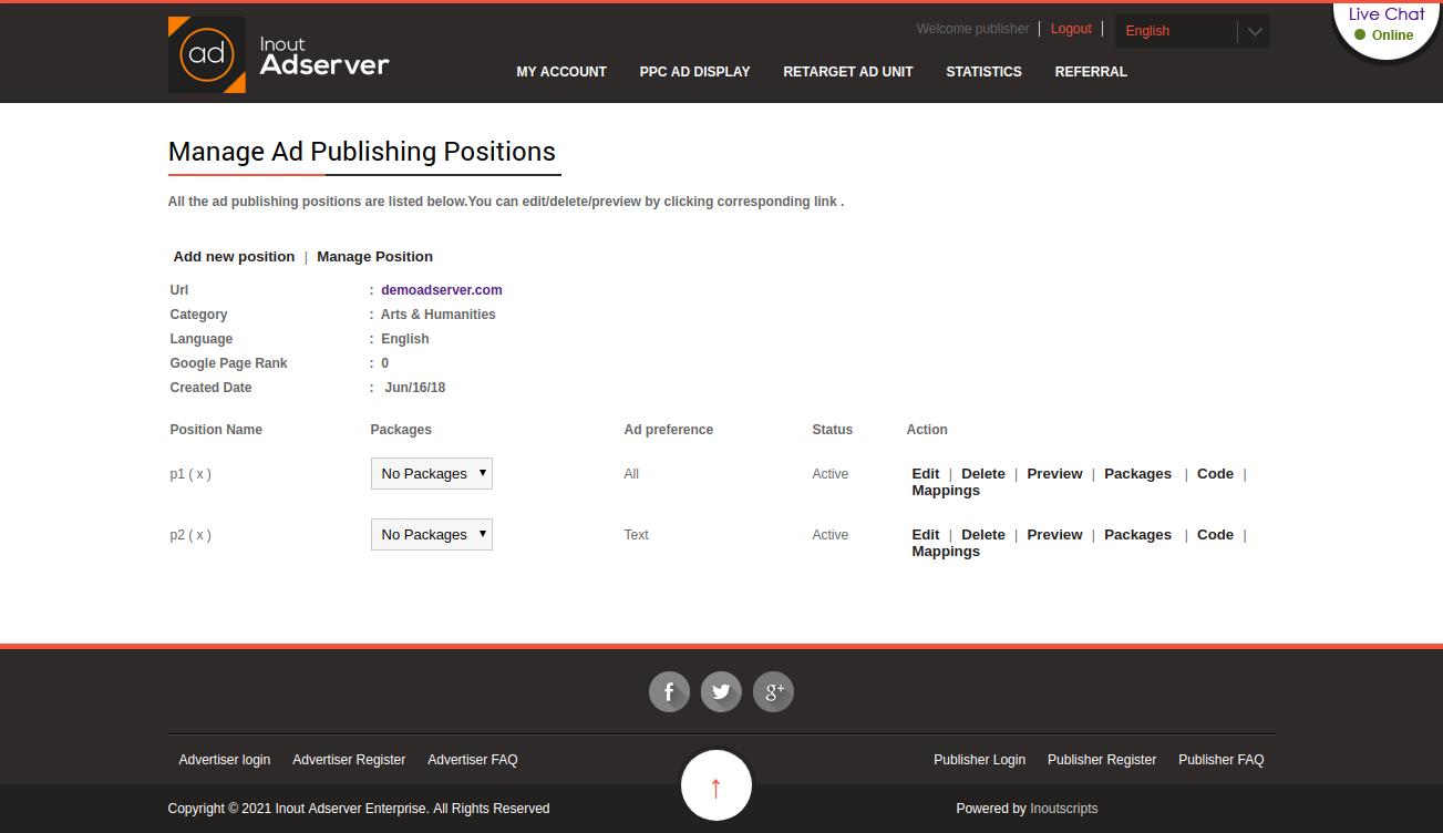 Cost Per Impression (CPM) Ads (for Inout Adserver) - Screenshot 8