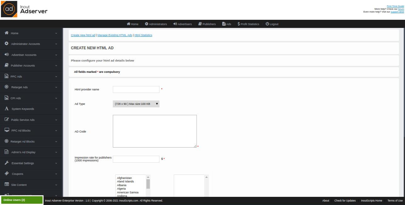 HTML Ads (for Inout Adserver) - Screenshot 2