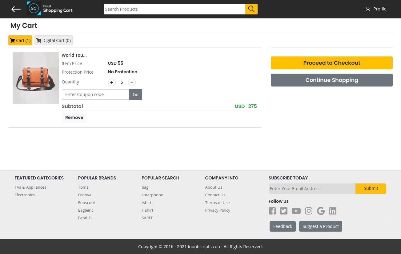 Inout Shopping Cart - Multi Vendor Edition - Screenshot 3