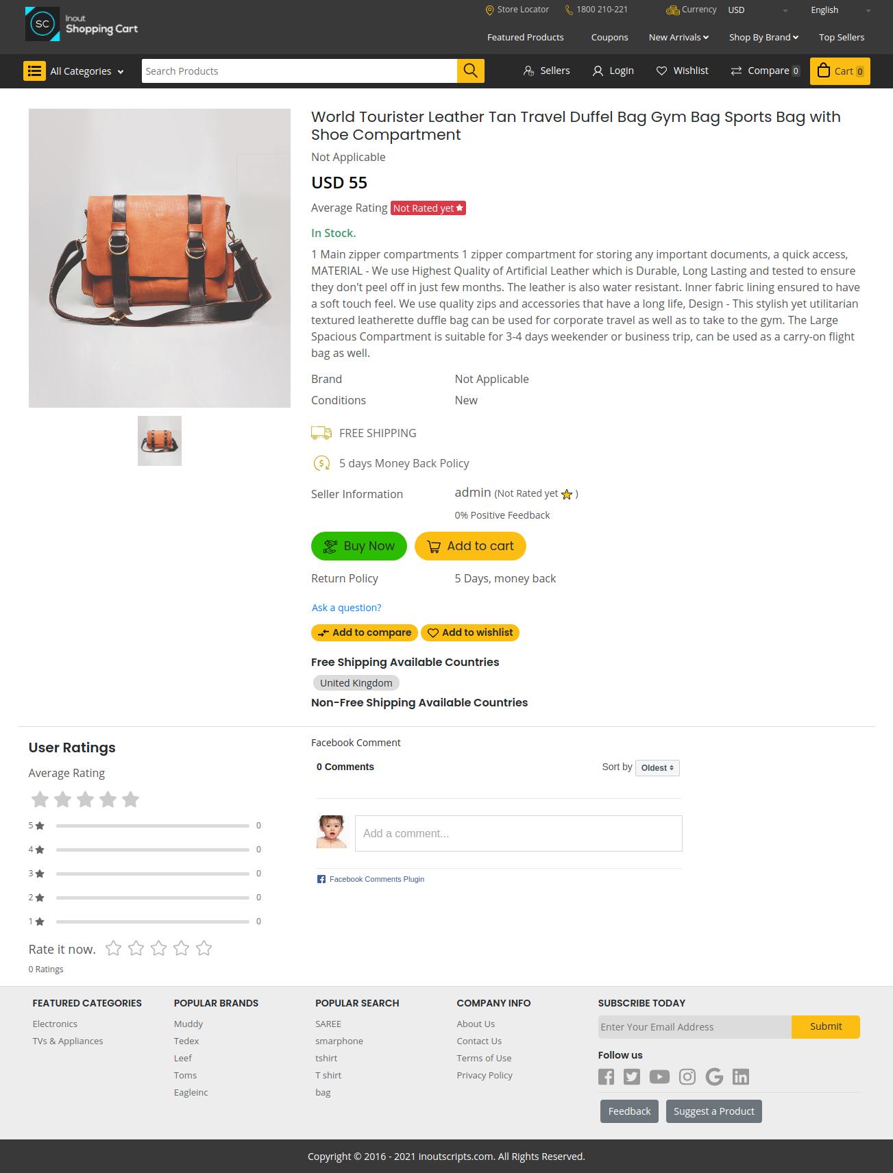 Inout Shopping Cart - Multi Vendor Edition - Screenshot 2