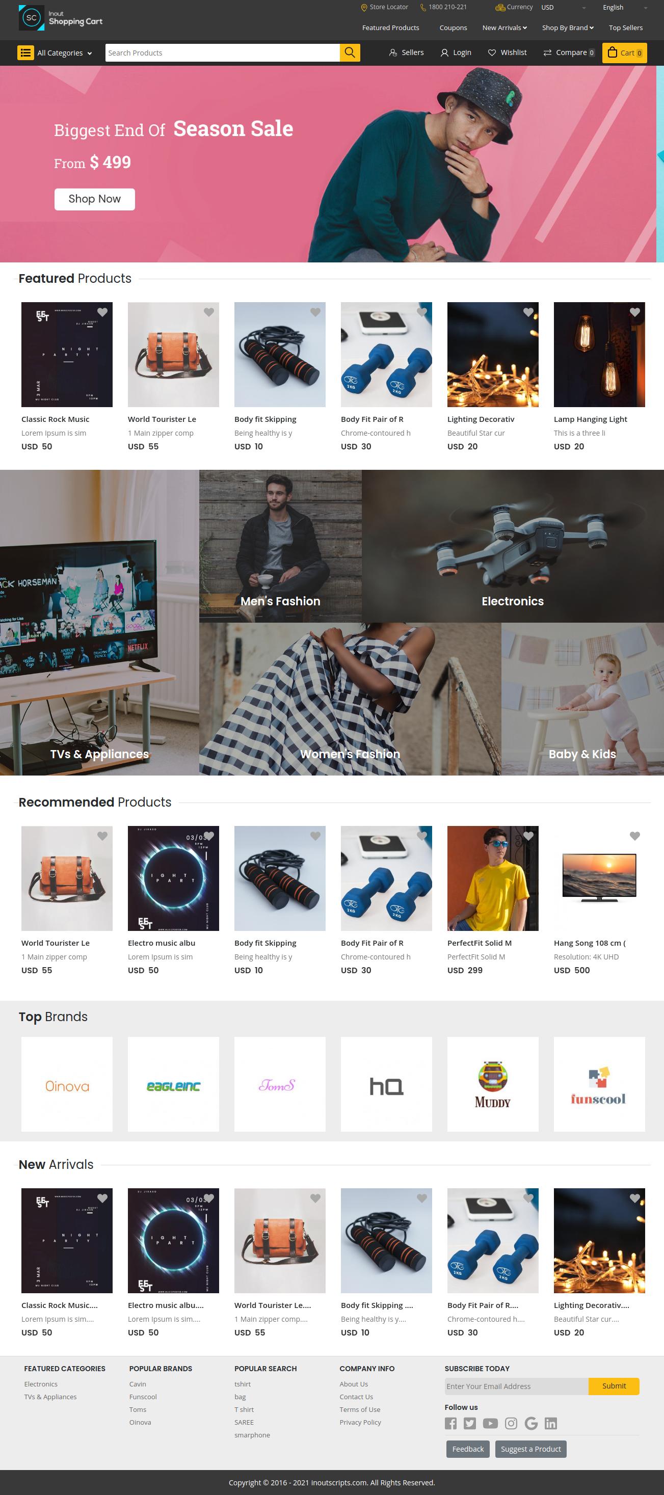 Inout Shopping Cart - Multi Vendor Edition - Screenshot 1