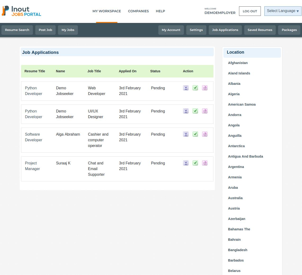 Inout Jobs Portal - Screenshot 5