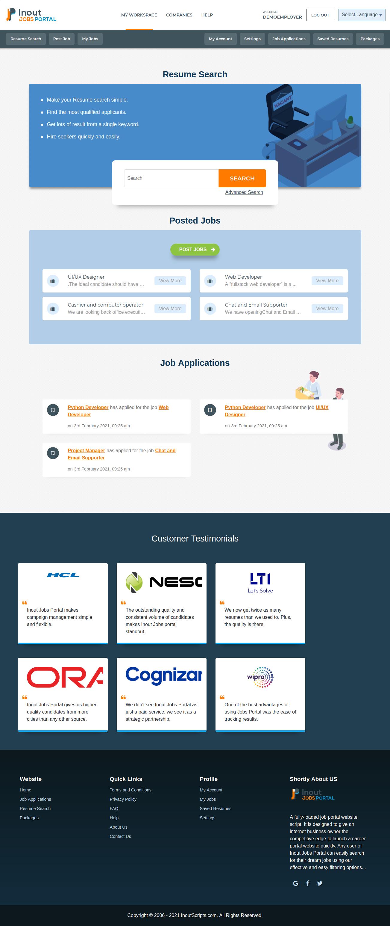 Inout Jobs Portal - Screenshot 3