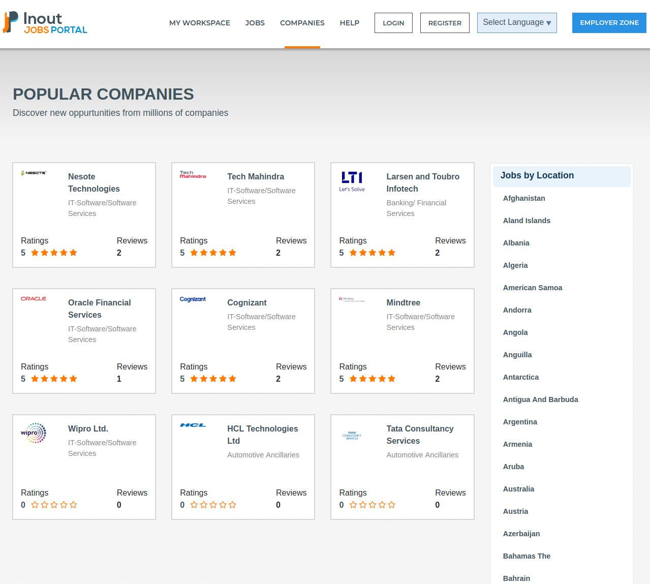 Inout Jobs Portal - Screenshot 2