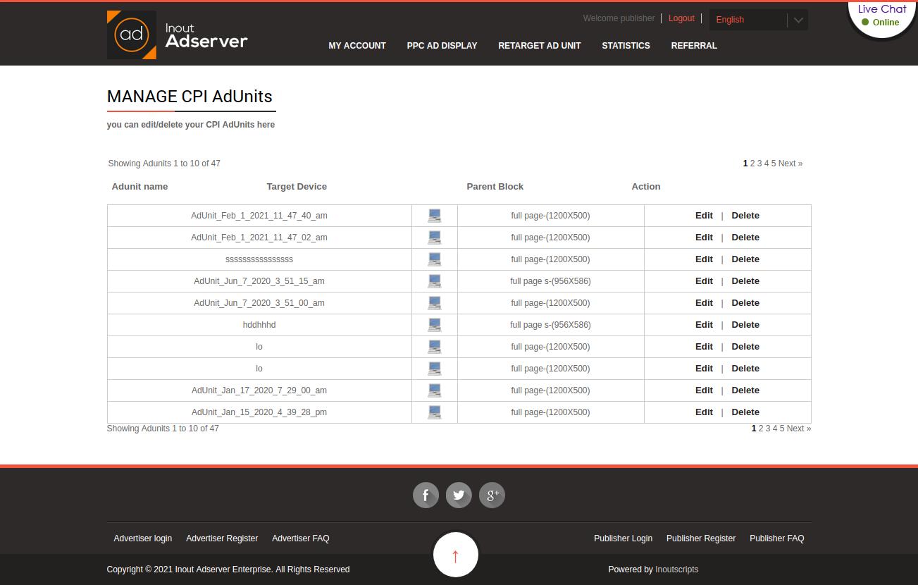Cost Per Interstitial (CPI) Ads (for Inout Adserver) - Screenshot 4