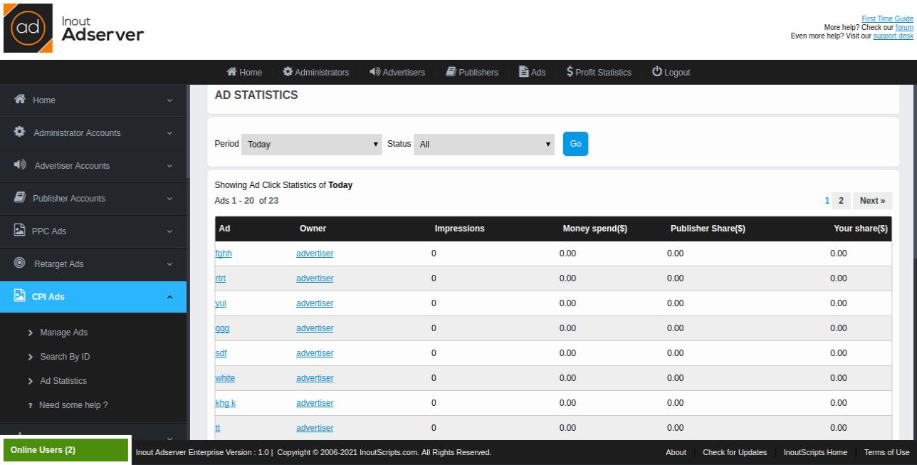 Cost Per Interstitial (CPI) Ads (for Inout Adserver) - Screenshot 5