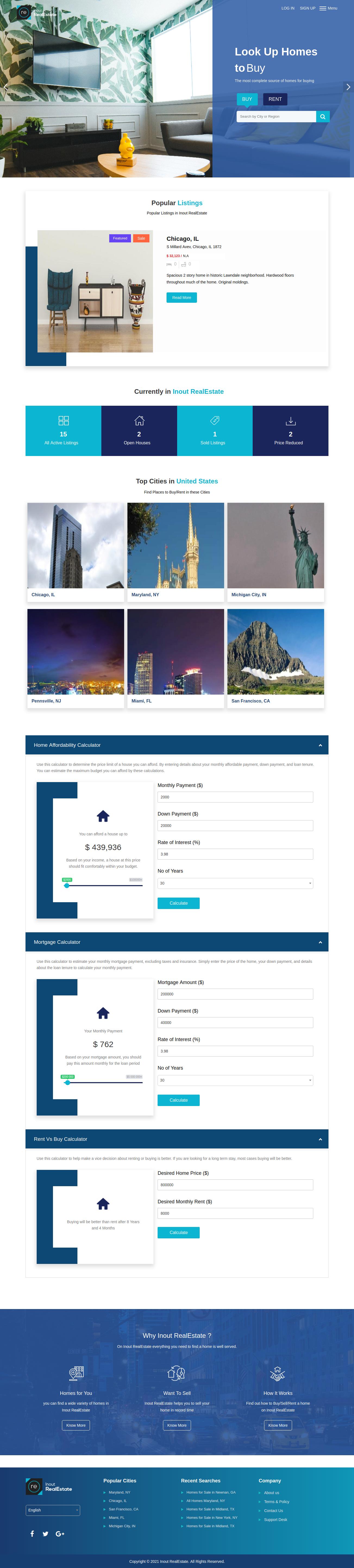 Inout RealEstate - Map Based Advanced Real Estate Portal - Screenshot 1