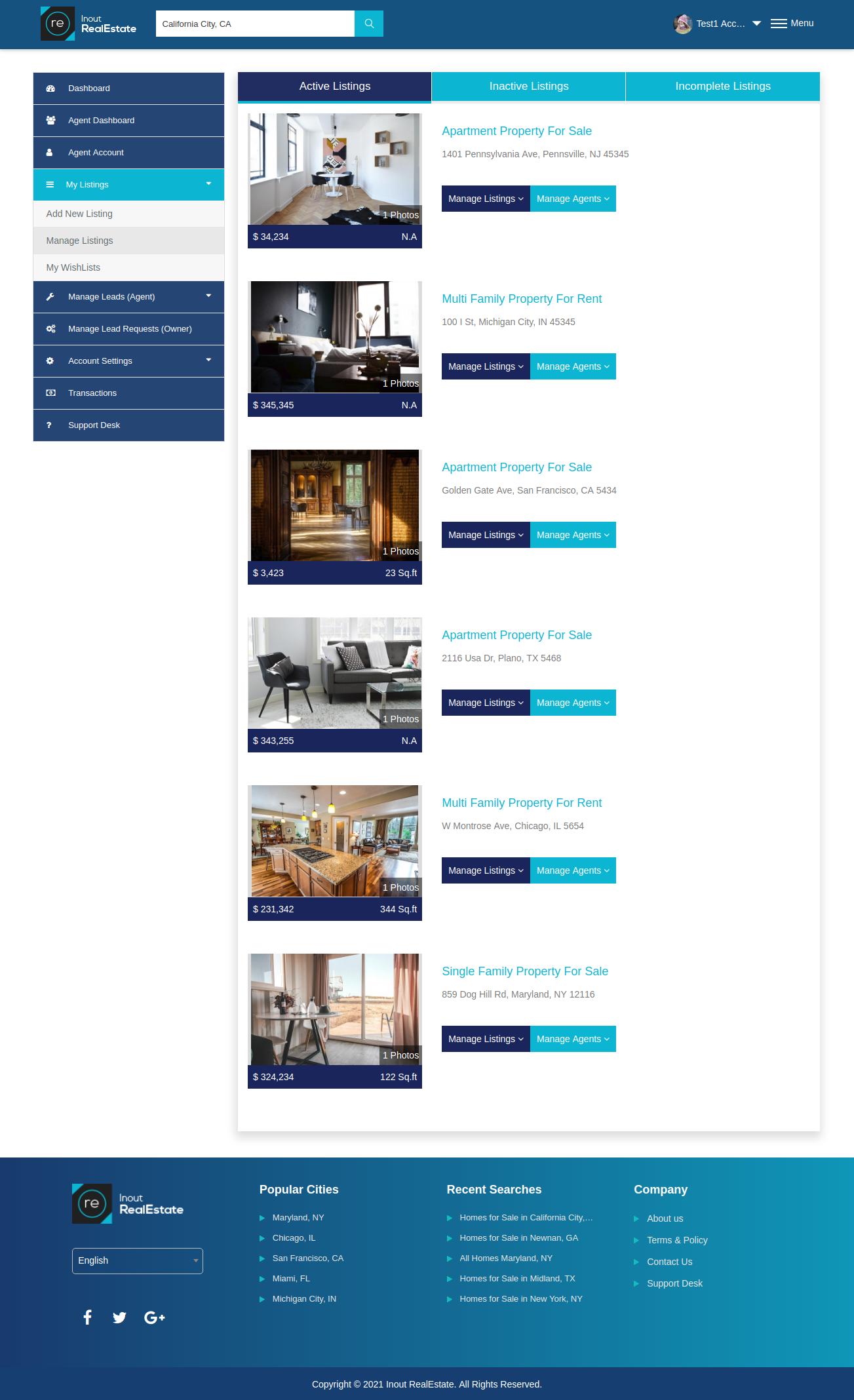 Inout RealEstate - Map Based Advanced Real Estate Portal - Screenshot 3