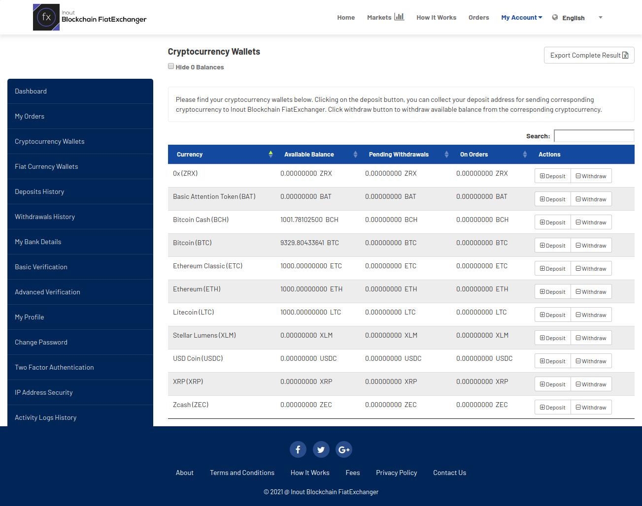 Inout Blockchain FiatExchanger - Cryptocurrency Exchange Script (Fiat to Crypto Exchange) - Screenshot 3