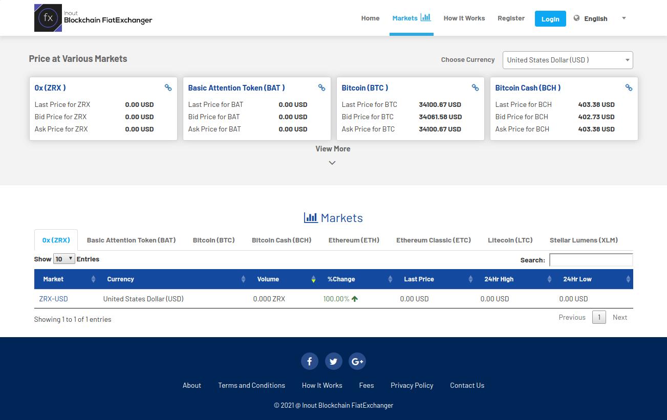 Inout Blockchain FiatExchanger - Cryptocurrency Exchange Script (Fiat to Crypto Exchange) - Screenshot 2