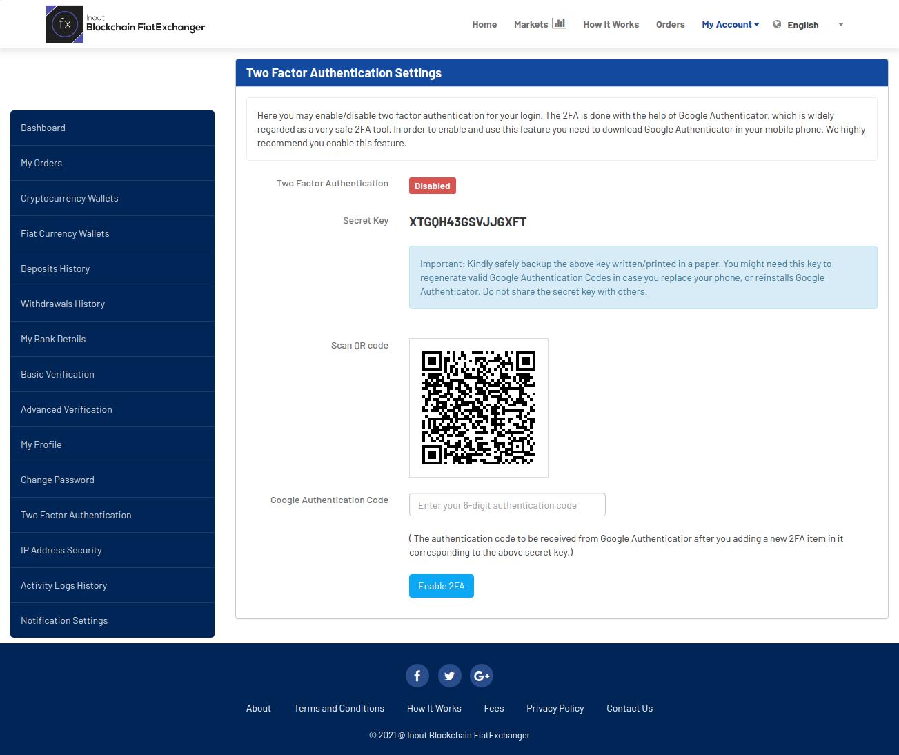 Inout Blockchain FiatExchanger - Cryptocurrency Exchange Script (Fiat to Crypto Exchange) - Screenshot 5