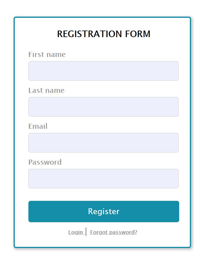 Login and Registration System - Screenshot 1